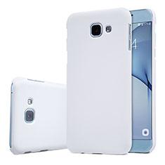 Coque Plastique Rigide Etui Housse Mat M01 pour Samsung Galaxy A8 (2016) A8100 A810F Blanc