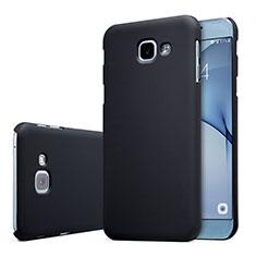 Coque Plastique Rigide Etui Housse Mat M01 pour Samsung Galaxy A8 (2016) A8100 A810F Noir