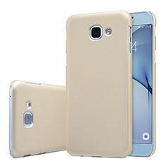 Coque Plastique Rigide Etui Housse Mat M01 pour Samsung Galaxy A8 (2016) A8100 A810F Or