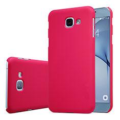 Coque Plastique Rigide Etui Housse Mat M01 pour Samsung Galaxy A8 (2016) A8100 A810F Rouge