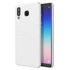 Coque Plastique Rigide Etui Housse Mat M01 pour Samsung Galaxy A8 Star Blanc