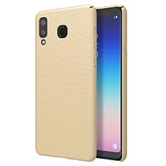 Coque Plastique Rigide Etui Housse Mat M01 pour Samsung Galaxy A8 Star Or