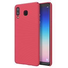 Coque Plastique Rigide Etui Housse Mat M01 pour Samsung Galaxy A8 Star Rouge