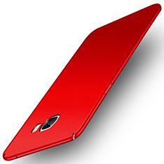 Coque Plastique Rigide Etui Housse Mat M01 pour Samsung Galaxy C5 Pro C5010 Rouge