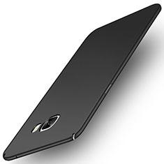 Coque Plastique Rigide Etui Housse Mat M01 pour Samsung Galaxy C7 Pro C7010 Noir