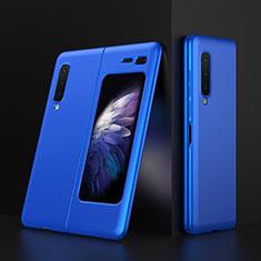Coque Plastique Rigide Etui Housse Mat M01 pour Samsung Galaxy Fold Bleu