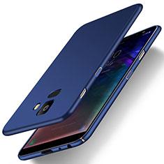 Coque Plastique Rigide Etui Housse Mat M01 pour Samsung Galaxy J6 (2018) J600F Bleu