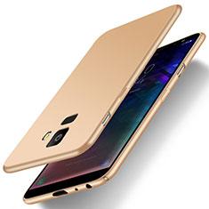 Coque Plastique Rigide Etui Housse Mat M01 pour Samsung Galaxy J6 (2018) J600F Or
