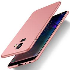 Coque Plastique Rigide Etui Housse Mat M01 pour Samsung Galaxy J6 (2018) J600F Or Rose