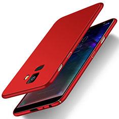Coque Plastique Rigide Etui Housse Mat M01 pour Samsung Galaxy J6 (2018) J600F Rouge