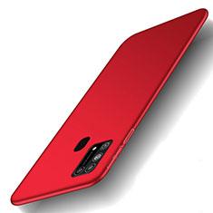 Coque Plastique Rigide Etui Housse Mat M01 pour Samsung Galaxy M21s Rouge
