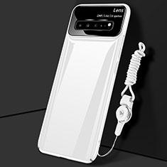 Coque Plastique Rigide Etui Housse Mat M01 pour Samsung Galaxy S10 5G SM-G977B Blanc