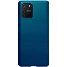 Coque Plastique Rigide Etui Housse Mat M01 pour Samsung Galaxy S10 Lite Bleu