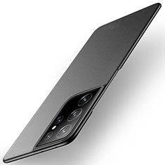 Coque Plastique Rigide Etui Housse Mat M01 pour Samsung Galaxy S21 Ultra 5G Noir