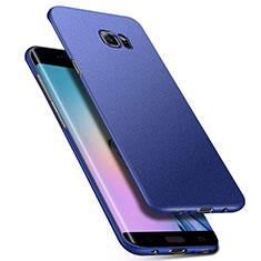 Coque Plastique Rigide Etui Housse Mat M01 pour Samsung Galaxy S6 Edge+ Plus SM-G928F Bleu