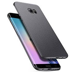 Coque Plastique Rigide Etui Housse Mat M01 pour Samsung Galaxy S6 Edge+ Plus SM-G928F Gris