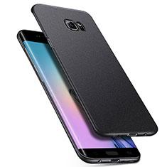 Coque Plastique Rigide Etui Housse Mat M01 pour Samsung Galaxy S6 Edge+ Plus SM-G928F Noir