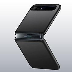 Coque Plastique Rigide Etui Housse Mat M01 pour Samsung Galaxy Z Flip 5G Noir