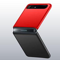 Coque Plastique Rigide Etui Housse Mat M01 pour Samsung Galaxy Z Flip 5G Rouge et Noir