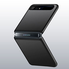 Coque Plastique Rigide Etui Housse Mat M01 pour Samsung Galaxy Z Flip Noir