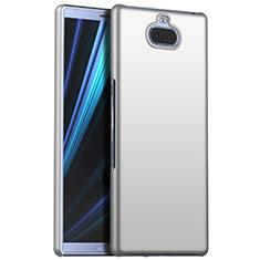 Coque Plastique Rigide Etui Housse Mat M01 pour Sony Xperia 10 Plus Argent