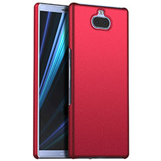 Coque Plastique Rigide Etui Housse Mat M01 pour Sony Xperia 10 Plus Rouge