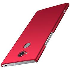 Coque Plastique Rigide Etui Housse Mat M01 pour Sony Xperia XA2 Plus Rouge