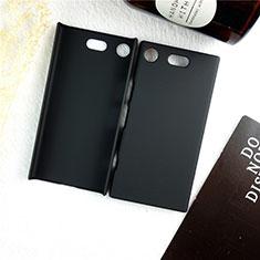Coque Plastique Rigide Etui Housse Mat M01 pour Sony Xperia XZ1 Compact Noir