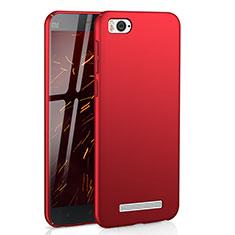 Coque Plastique Rigide Etui Housse Mat M01 pour Xiaomi Mi 4C Rouge