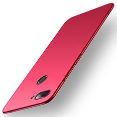 Coque Plastique Rigide Etui Housse Mat M01 pour Xiaomi Mi 8 Lite Rouge