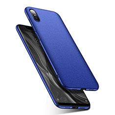 Coque Plastique Rigide Etui Housse Mat M01 pour Xiaomi Mi 8 Screen Fingerprint Edition Bleu
