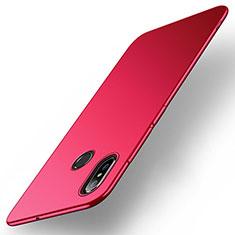 Coque Plastique Rigide Etui Housse Mat M01 pour Xiaomi Mi Max 3 Rouge