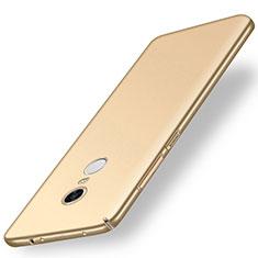 Coque Plastique Rigide Etui Housse Mat M01 pour Xiaomi Redmi Note 5 Indian Version Or