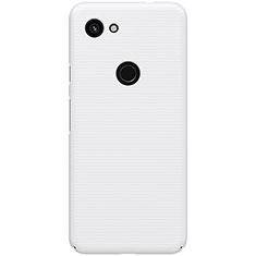 Coque Plastique Rigide Etui Housse Mat M02 pour Google Pixel 3a Blanc