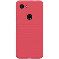 Coque Plastique Rigide Etui Housse Mat M02 pour Google Pixel 3a Rouge