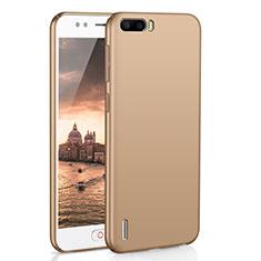 Coque Plastique Rigide Etui Housse Mat M02 pour Huawei Honor 6 Plus Or