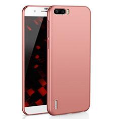 Coque Plastique Rigide Etui Housse Mat M02 pour Huawei Honor 6 Plus Or Rose