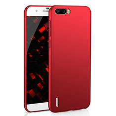 Coque Plastique Rigide Etui Housse Mat M02 pour Huawei Honor 6 Plus Rouge