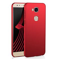 Coque Plastique Rigide Etui Housse Mat M02 pour Huawei Honor X5 Rouge