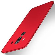 Coque Plastique Rigide Etui Housse Mat M02 pour Huawei Mate 10 Pro Rouge