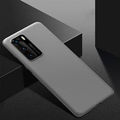 Coque Plastique Rigide Etui Housse Mat M02 pour Huawei P40 Gris
