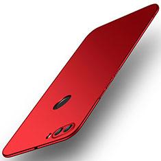 Coque Plastique Rigide Etui Housse Mat M02 pour Huawei Y9 (2018) Rouge