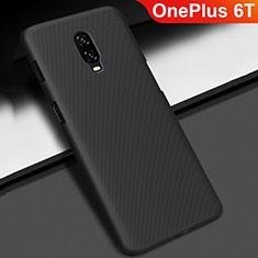 Coque Plastique Rigide Etui Housse Mat M02 pour OnePlus 6T Noir