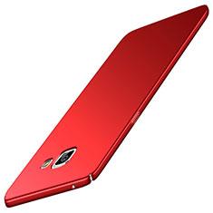 Coque Plastique Rigide Etui Housse Mat M02 pour Samsung Galaxy A5 (2016) SM-A510F Rouge