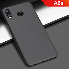 Coque Plastique Rigide Etui Housse Mat M02 pour Samsung Galaxy A6s Noir