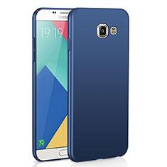 Coque Plastique Rigide Etui Housse Mat M02 pour Samsung Galaxy A9 Pro (2016) SM-A9100 Bleu