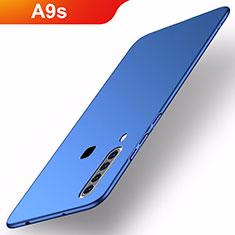 Coque Plastique Rigide Etui Housse Mat M02 pour Samsung Galaxy A9s Bleu