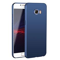 Coque Plastique Rigide Etui Housse Mat M02 pour Samsung Galaxy C7 SM-C7000 Bleu