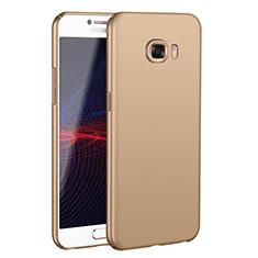 Coque Plastique Rigide Etui Housse Mat M02 pour Samsung Galaxy C7 SM-C7000 Or