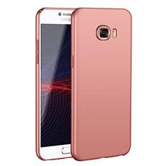 Coque Plastique Rigide Etui Housse Mat M02 pour Samsung Galaxy C7 SM-C7000 Or Rose